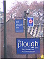 TG1924 : The Plough Inn signs by Geographer