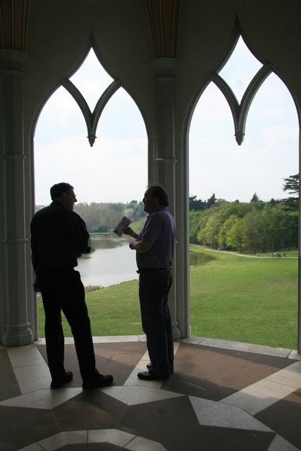 Painshill Park - inside the Gothic temple
