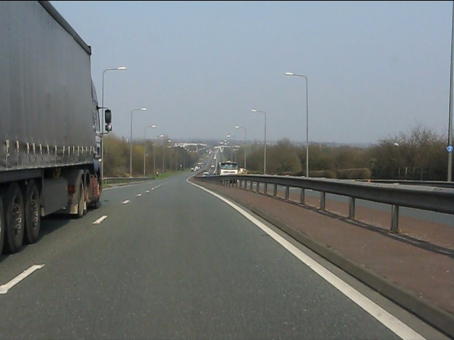 A580 heads across Lancashire
