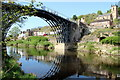 SJ6703 : Iron Bridge and St Luke's Church, Ironbridge, Shropshire by Christine Matthews