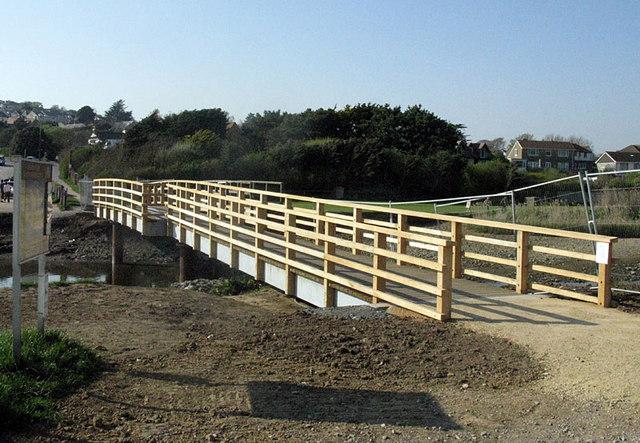 New bridge at Charmouth