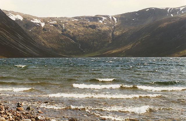 Looking down Loch Einich
