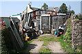 SX8050 : Blackawton: yard in Chapel Street by Martin Bodman