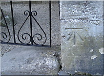 ST7465 : Benchmark, west side of the Royal Crescent by Neil Owen