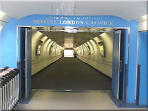 TQ2741 : Linkway to Hotel, Gatwick by Colin Smith