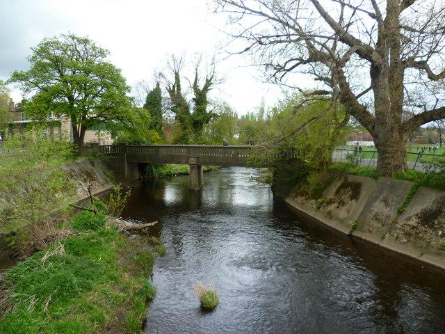 Water of Leith footbridge at Roseburn