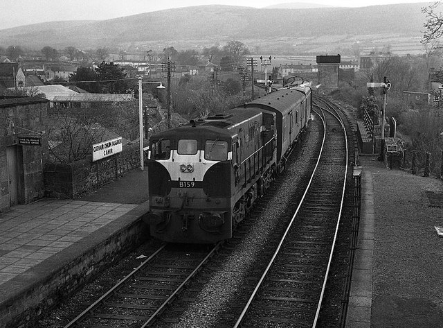 Train at Cahir station