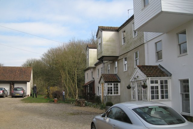 Villagers chat at Aldborough Mill