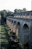 SJ2837 : Chirk Aqueduct, Llangollen Canal - 1984 by Helmut Zozmann