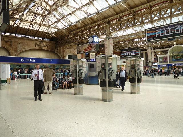 Three payphones on Victoria Station