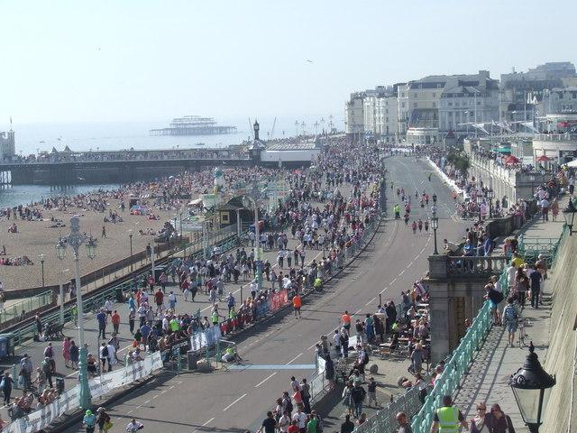 Brighton marathon, approaching the finish