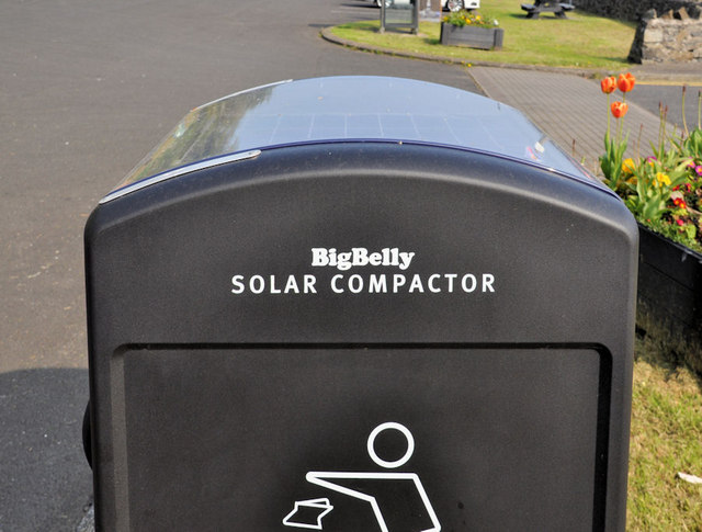 Solar Powered Litter Bin Drain S Bay 169 Albert Bridge