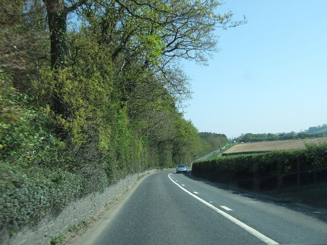 The A382 south of Stover School