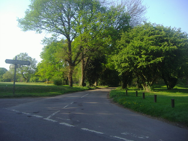 Ley Hill Road at junction with Ashridge Lane
