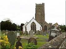 ST0642 : St. Decuman's Church and graveyard by Rose and Trev Clough