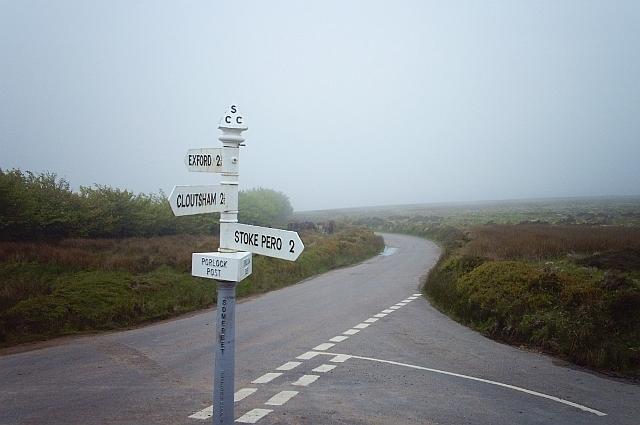 Porlock Post in a mist