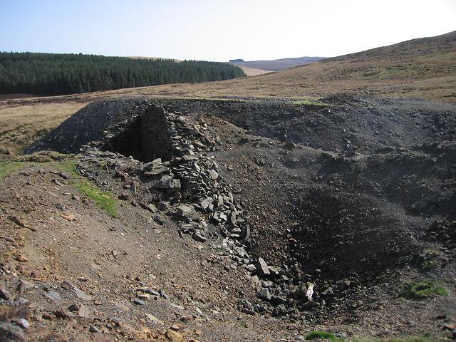 Cyfartha lead mine - shaft and engine house