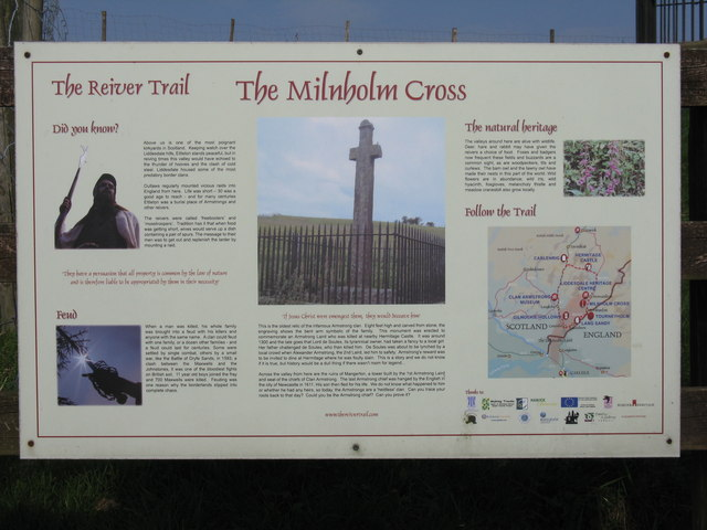 The Reiver Trail at the Millholm Cross