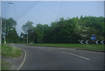 TQ1739 : Clark's Green roundabout, Capel by David Howard