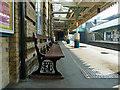 TQ3983 : LTSR station seat, Plaistow by Robin Webster