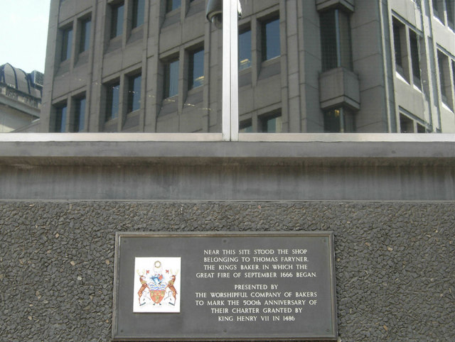 Commemoration Plaque On Pudding Lane 169 Stephen Mckay Cc By