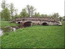 SP2556 : Bridge over the River Dene by Anthony Vosper