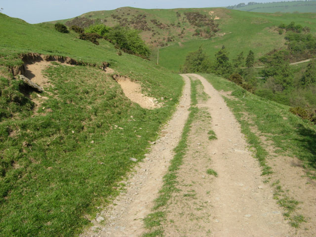 Track from Cwm-sanahan Hill