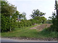 TM2865 : Footpath to Great Lodge Entrance and the B1116 Dennington Road by Adrian Cable