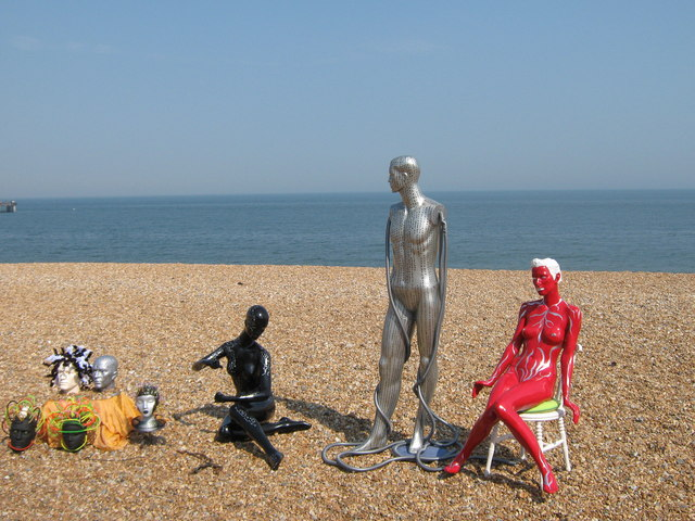 Statues on Deal Beach