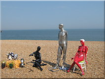 TR3752 : Statues on Deal Beach by David Anstiss