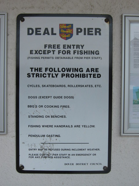 Prohibitions on Deal Pier