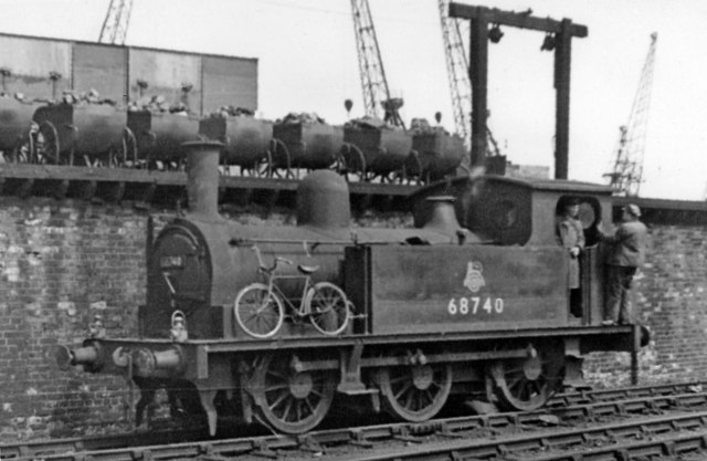 Ex-North Eastern 0-6-0T at Middlesbrough Locomotive Depot