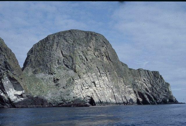 Sheep Rock from below Heswalls, Fair Isle