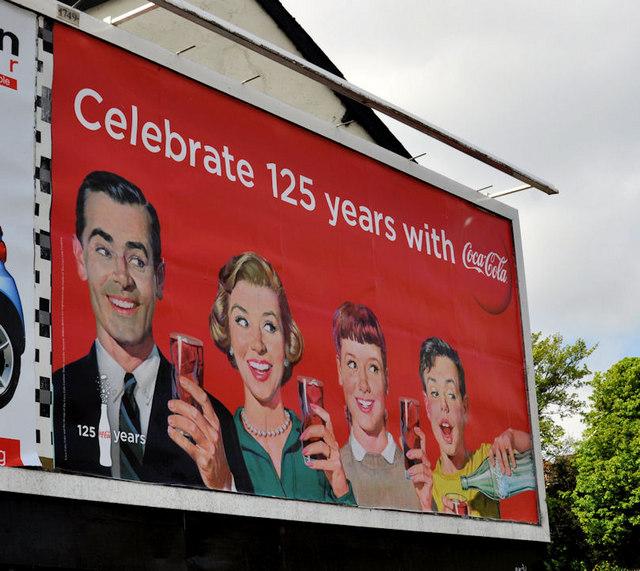 Coca-Cola 125th anniversary poster, Belfast