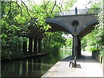 TQ2783 : Regent's Canal: Avenue Road bridge by Gareth James