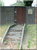 TG2209 : Entrance to the Hebrew Cemetery in Talbot Square, Norwich by Evelyn Simak