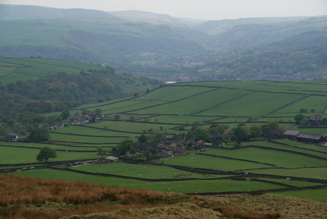 Mankinholes from the Calderdale Way