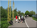 TQ2840 : Cycle route past Gatwick Airport by Stephen Craven