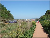 SX9777 : South West Coast Path at Langstone Rock by David Smith