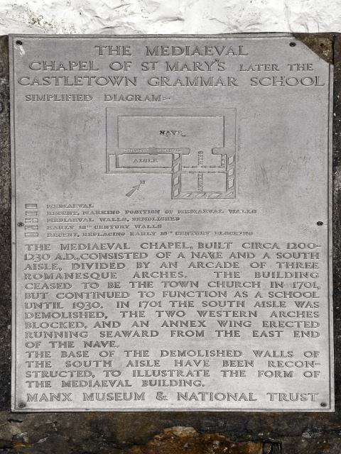 The Old Grammar School (plaque)