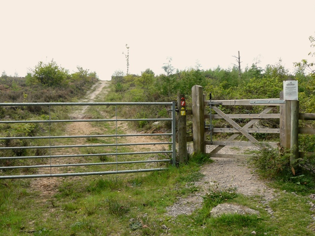Gate leading to Beacon Hill Heathland Restoration Project
