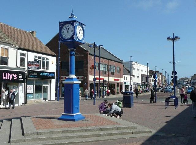 Clock in the High Street, Redcar