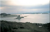 NM9247 : Dull day at Castle Stalker 1963 by Gordon Spicer