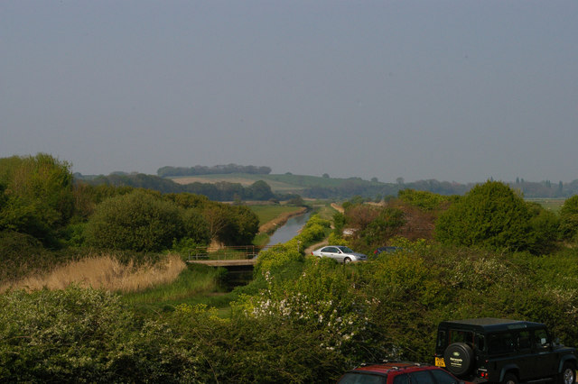 The Royal Military Canal sets off across Pett Level