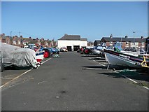 NZ6124 : Fisherman's Square boat park, Redcar by Humphrey Bolton