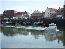 NT6779 : Coastal East Lothian : Wee Jock Leaving Victoria Harbour, Dunbar by Richard West