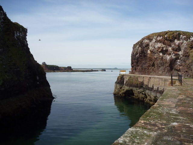 Coastal East Lothian ; The Narrow Entrance to Victoria Harbour, Dunbar