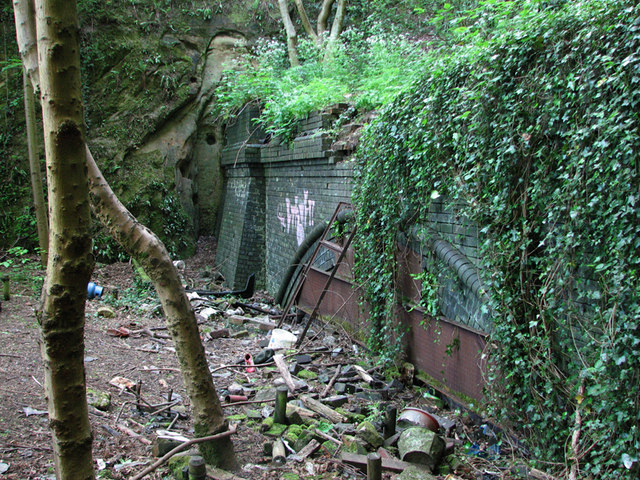 The remains of Sherwood Rise Tunnel