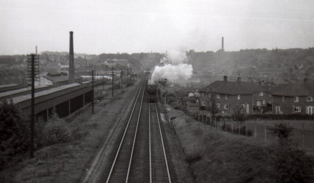 South From Perry Road Bridge 1963 169 John Sutton