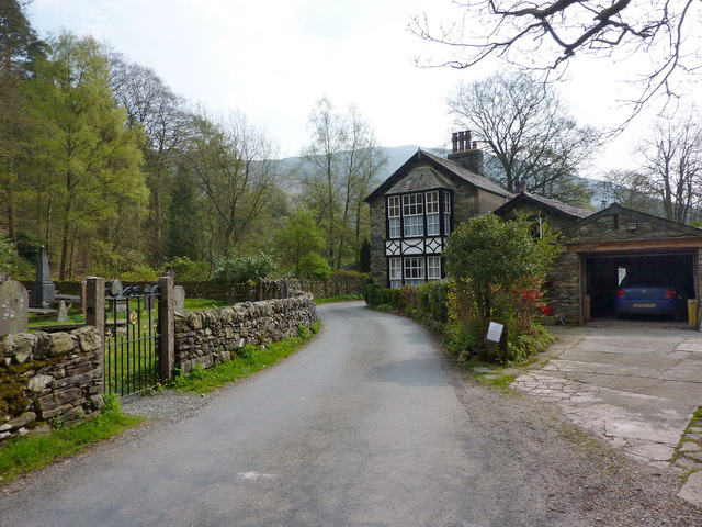 Road to the south of Holy Trinity Church, Seathwaite